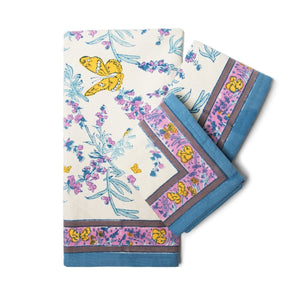Papillon Blue Tea Towel