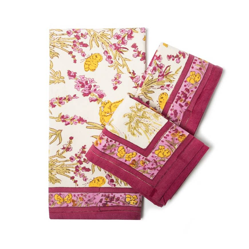 Papillon Rose Tea Towel