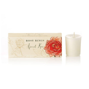 Rosy Rings Apricot Rose Votive Candle (Box of 3)