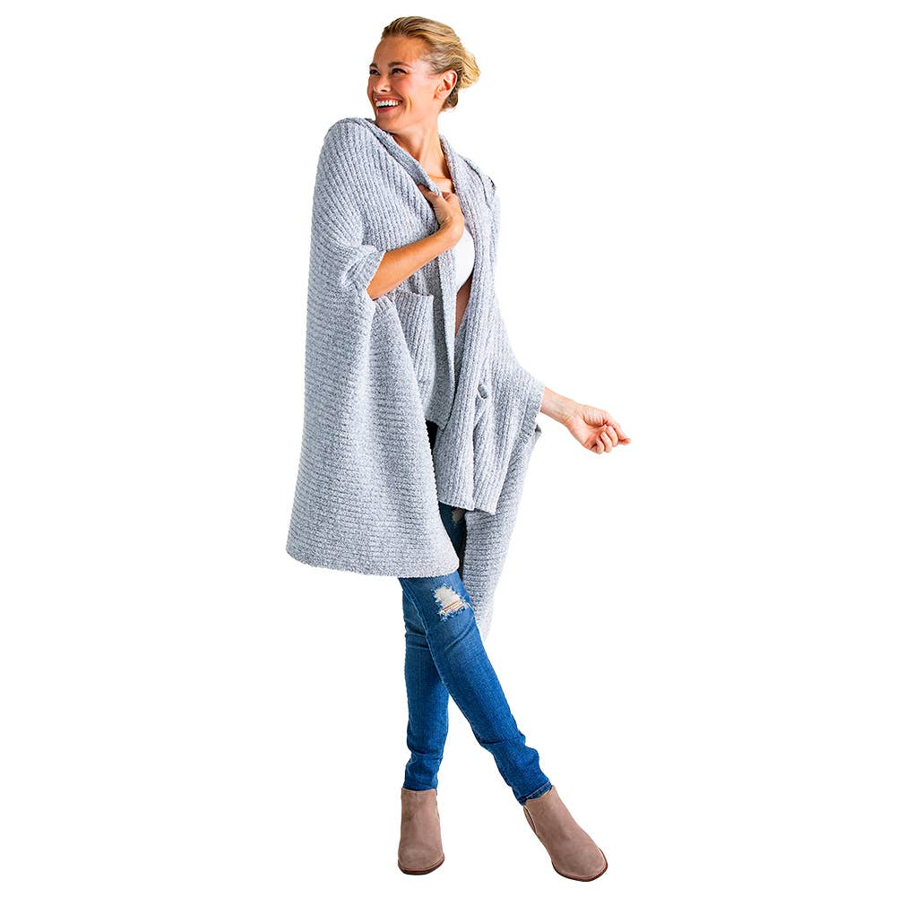 Softies - Marshmallow Hooded Shawl w/ Armslots