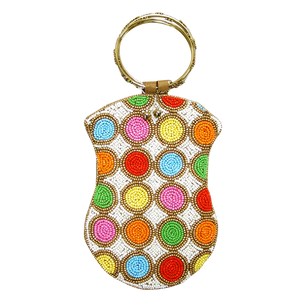 David Jeffery Beaded Handbag with Ring Handle