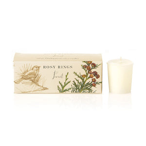 Rosy Rings Forest Votive Candle (Box of 3)