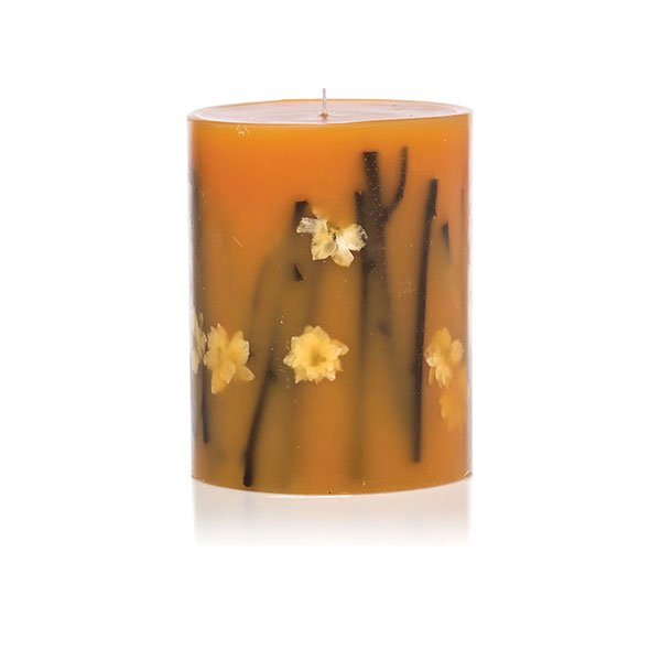Rosy Rings Honey Pillar Candle