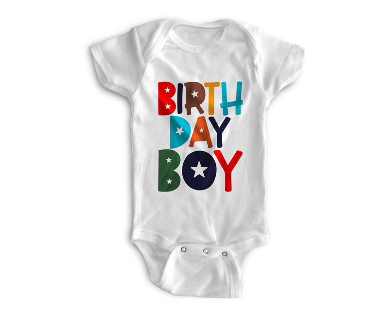 1st Baby Boy Bodysuit  - First Birthday Outfit - MultiColored