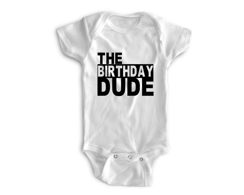 1st Baby Boy Bodysuit  - First Birthday Outfit - The Birthday Dude