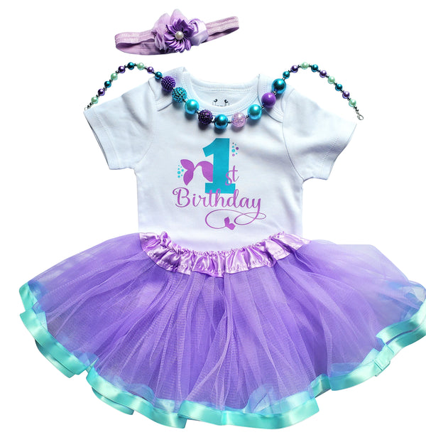 My First Birthday Girl Tutu Outfit - Mermaid
