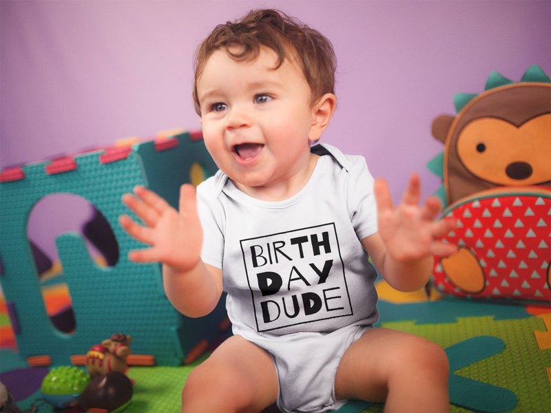 1st Baby Boy Bodysuit  - First Birthday Outfit - Birthday Dude
