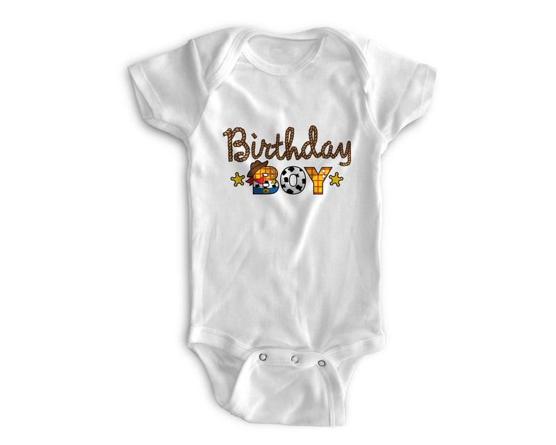 1st Baby Boy Bodysuit  - First Birthday Outfit - Country Western