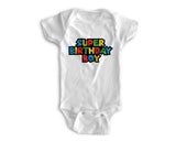 1st Baby Boy Bodysuit  - First Birthday Outfit - Super Birthday Boy