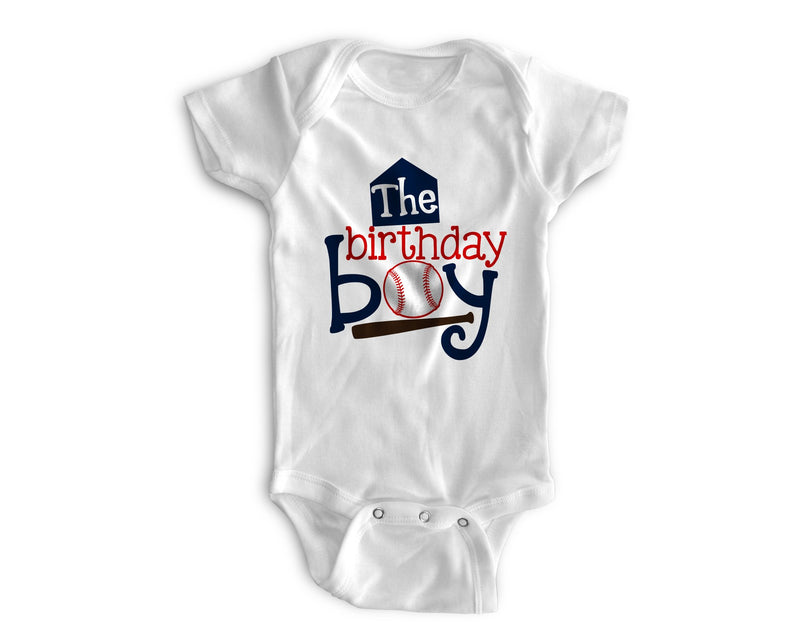 1st Baby Boy Bodysuit  - First Birthday Outfit - Baseball
