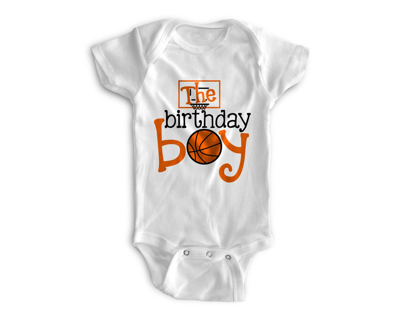 1st Baby Boy Bodysuit  - First Birthday Outfit - Basketball