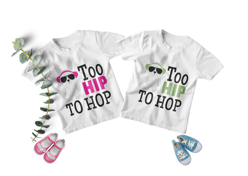 Easter Twin Toddler Set - Too Hip to Hop