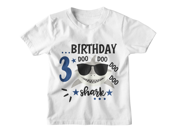 3rd Birthday Boy T-Shirt - 3rd Birthday Shark Doo Doo Doo