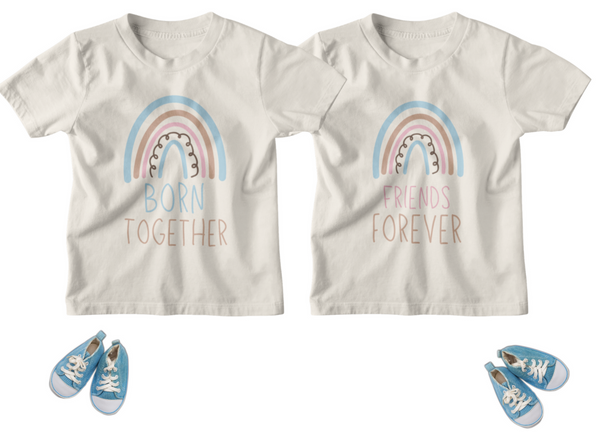 Rainbow Twins Toddler - Born Together/Friends Forever