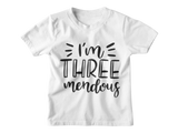 3rd Birthday Boy T-Shirt - I'm Threemendous