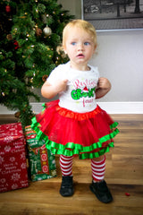 Resting Grinch Face Tutu Set