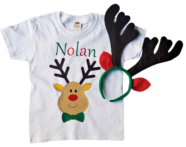 Reindeer Boy Shirt - Personalized