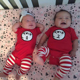 Twin Set - Twin 1 Twin 2 Onesies + Leggings