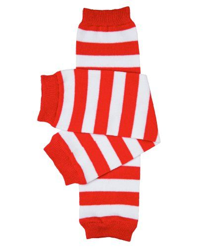 Striped Red and White Leggings