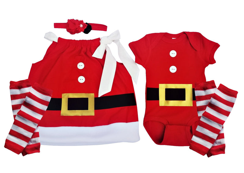 Twin Outfit Mr. and Mrs. Claus Set
