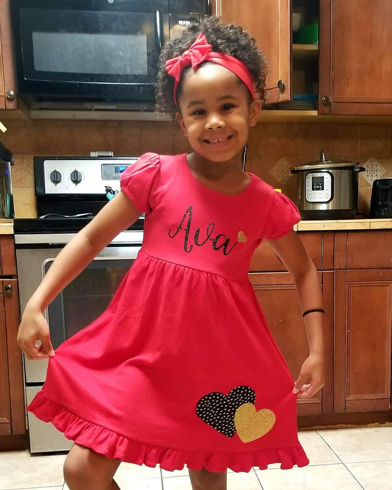 Personalized Valentine's Day Dress- Willow Dress