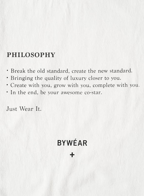 【BYWÉAR】Philosophy T-Shirt
