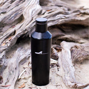 Black water bottle 16oz | Costa rica surf hotel | Surf hotel shop | The Gilded Iguana online store | Nosara gear| Beach life style