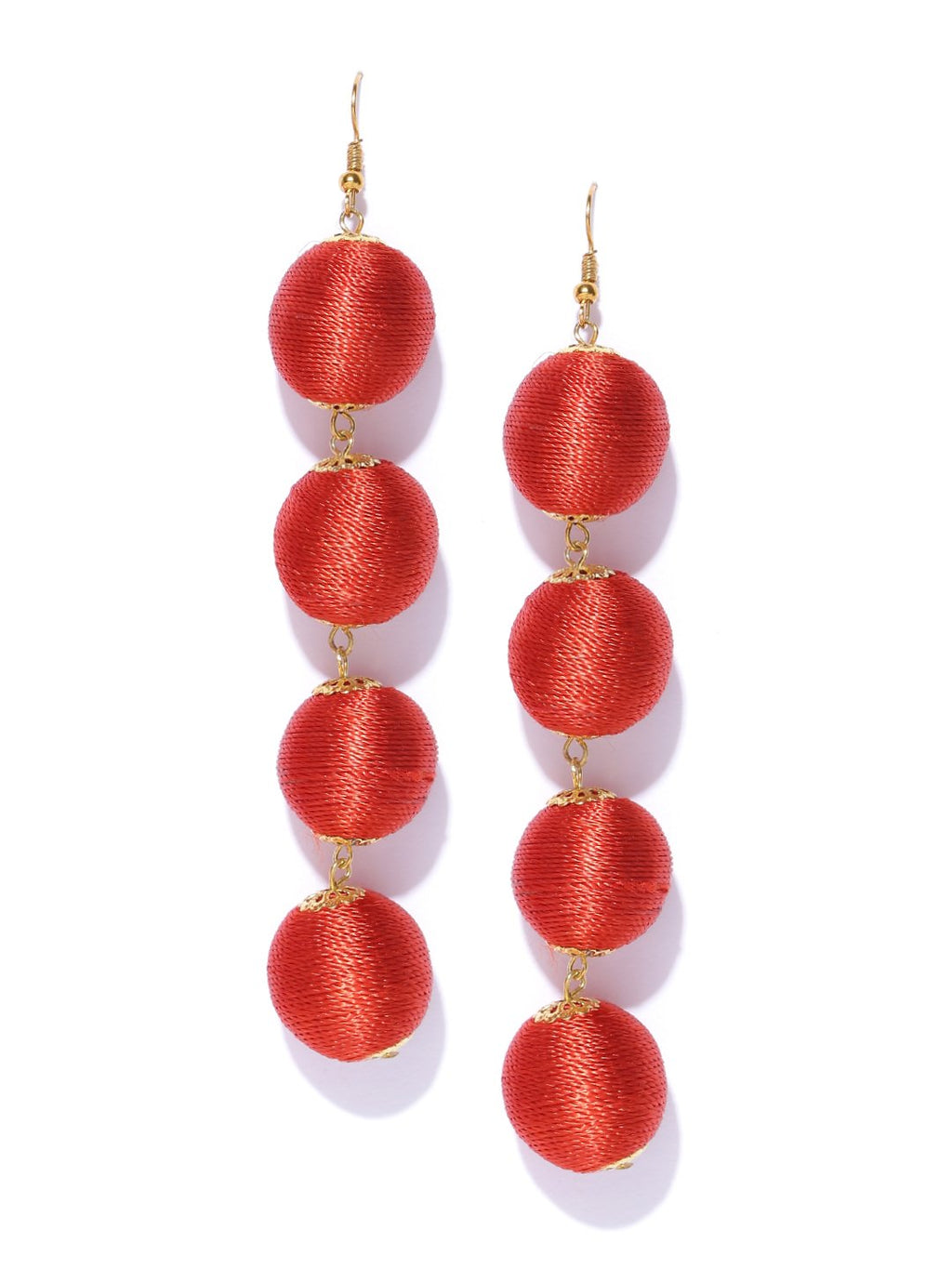 Blueberry red statement earrings