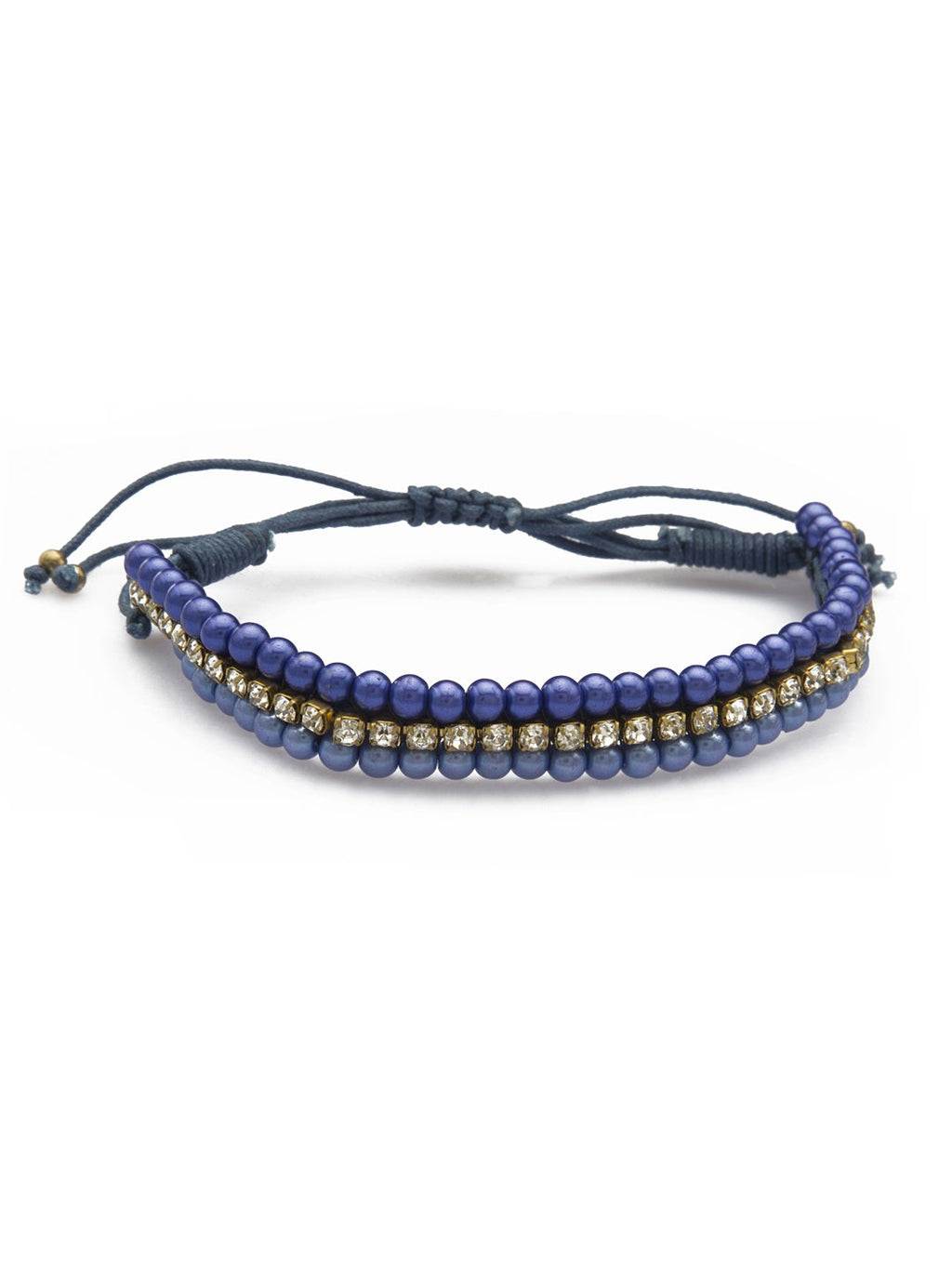 Blueberry blue alloy bracelet