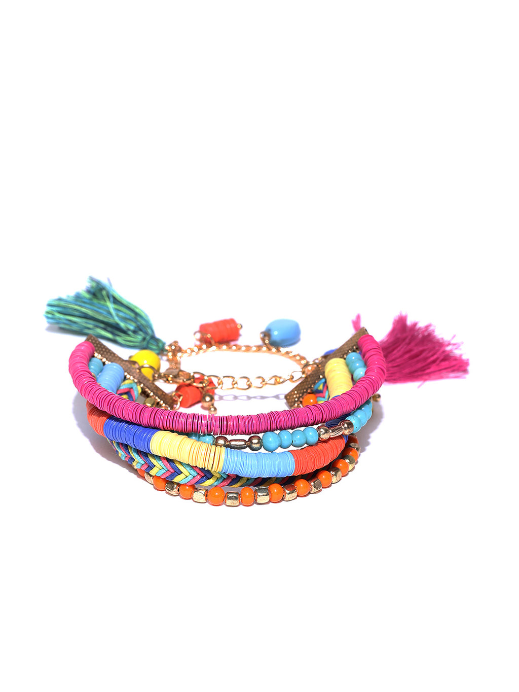 Blueberry multicoloured stranded bracelet