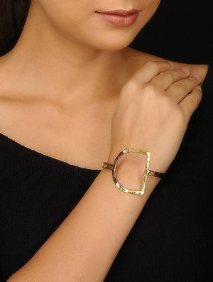 Blueberry gold plated hand cuff bracelets