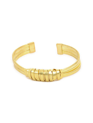Blueberry gold plated cuff bracelet