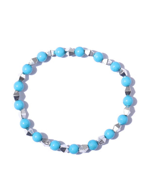 Blueberry set of 5 multi color beaded detailing bracelets