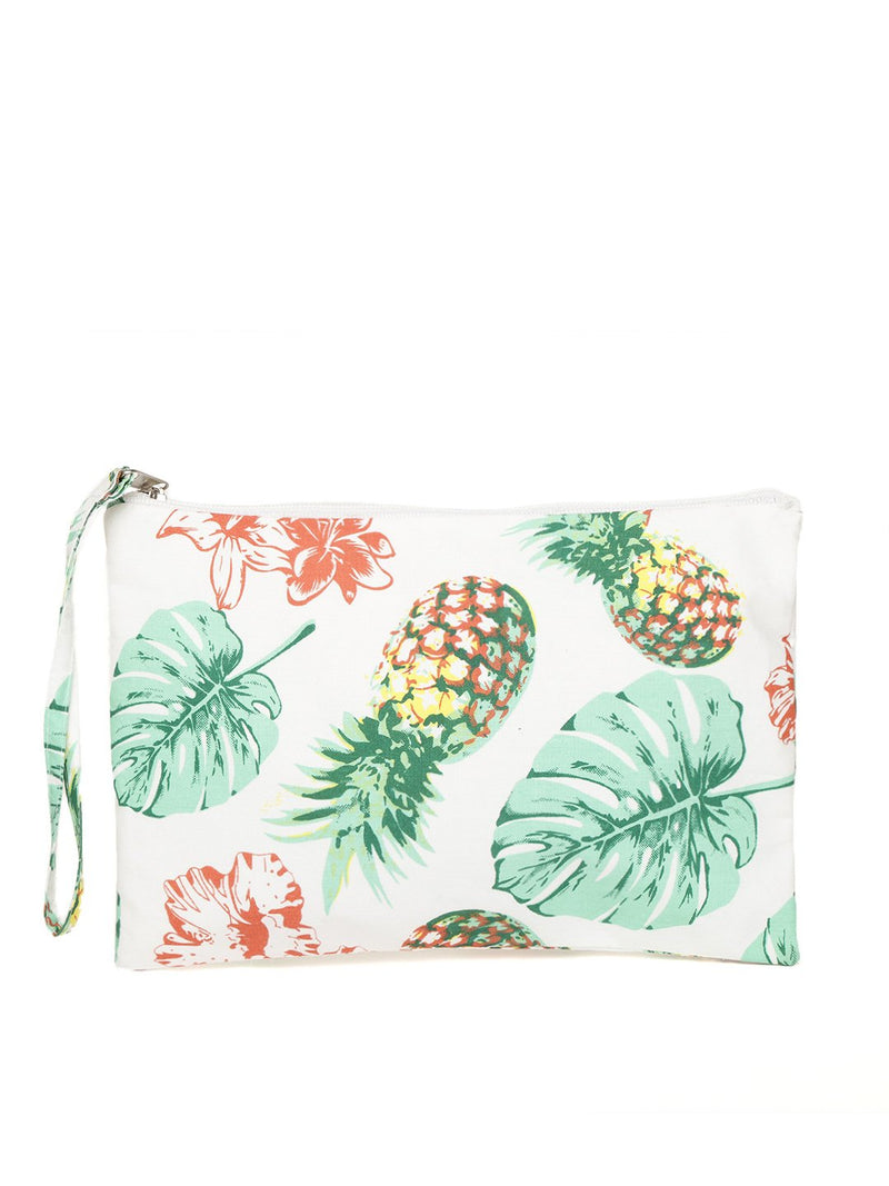 Blueberry multi color fruit printed pouch