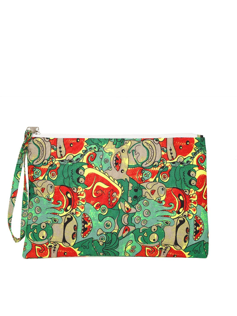 Blueberry multi color printed pouch