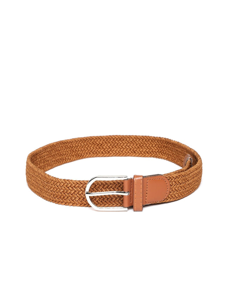 Lazy panda white braided belt