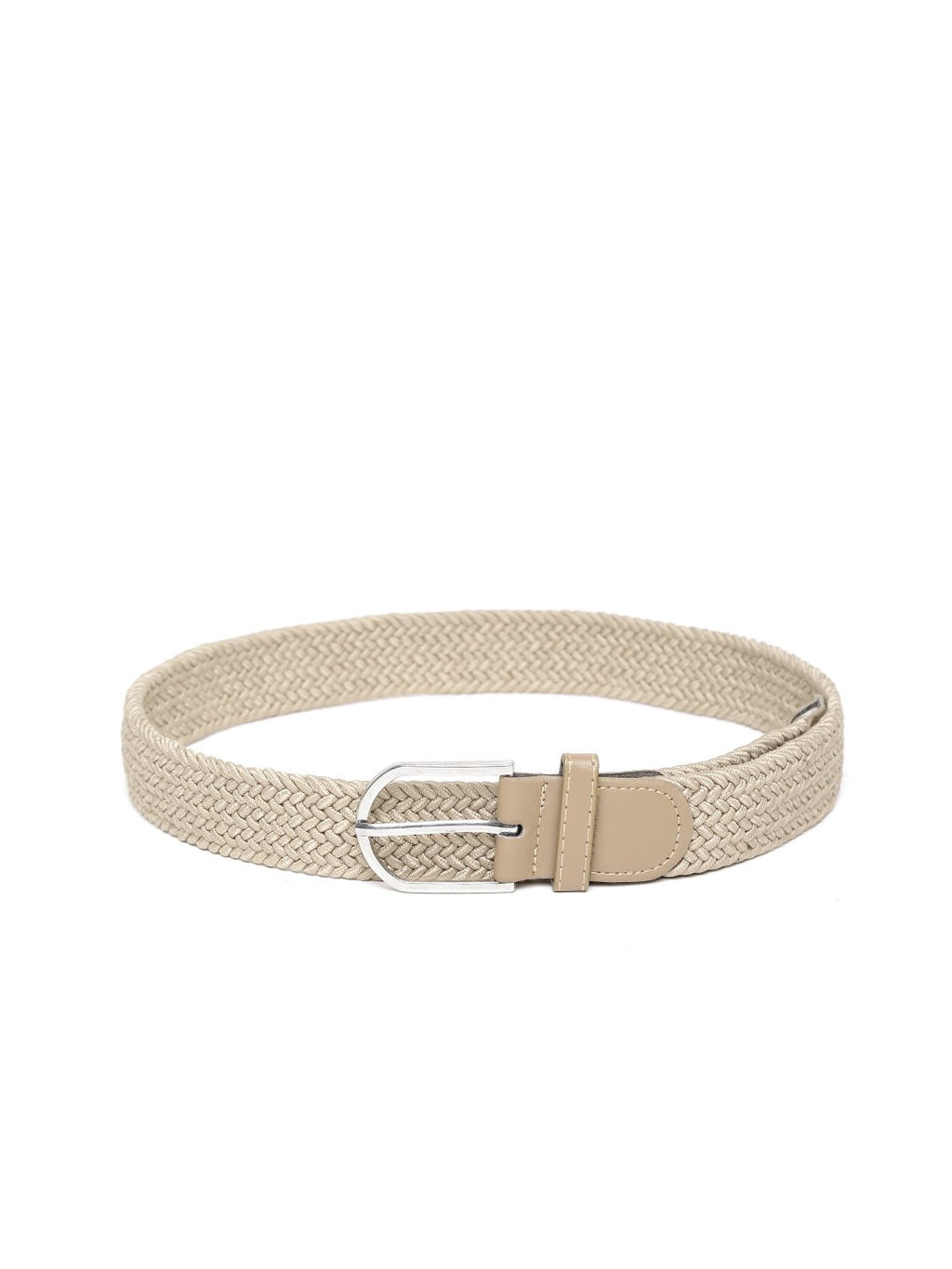 Lazy panda men beige webbed belt