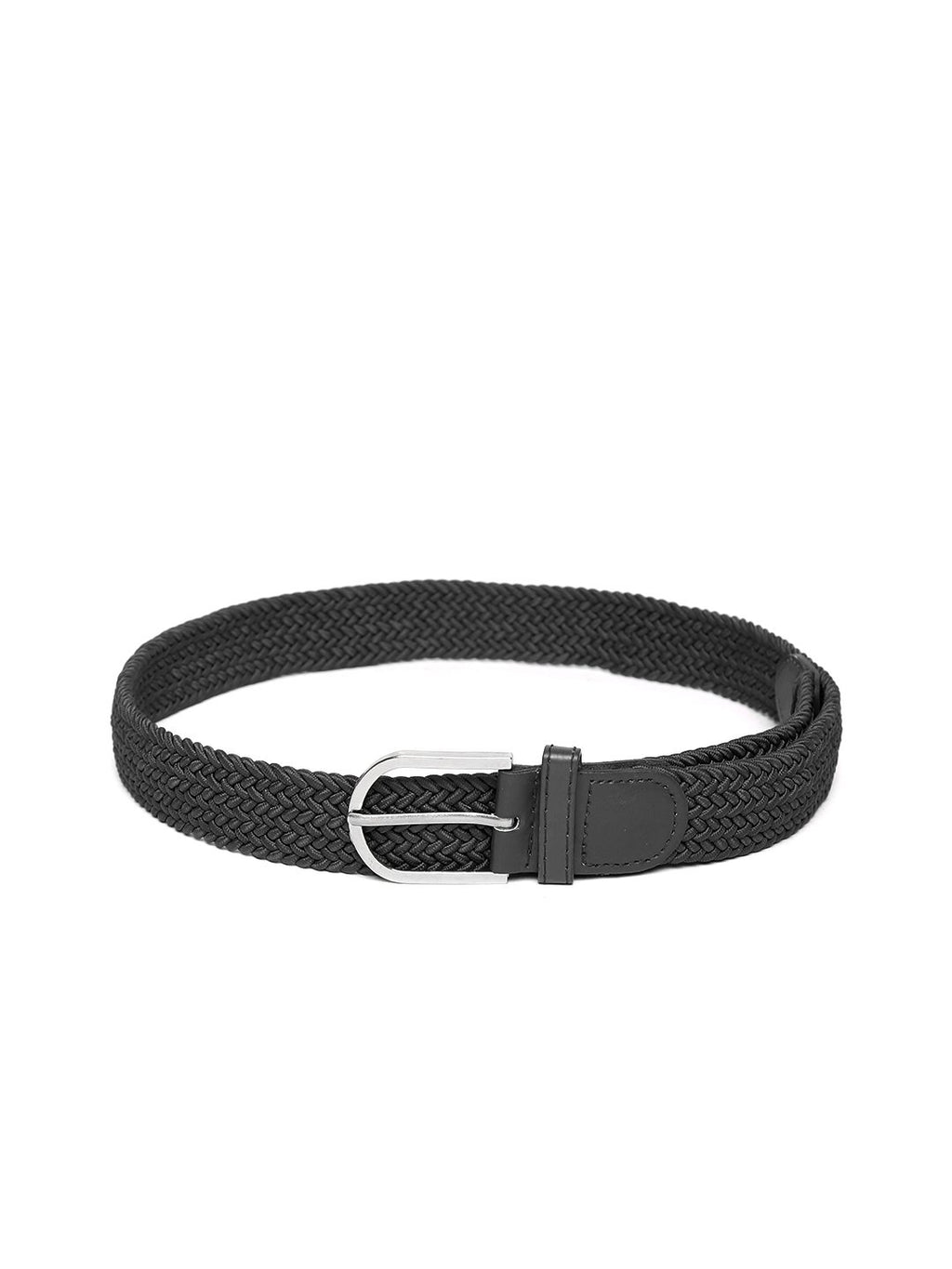 Lazy panda men black webbed belt