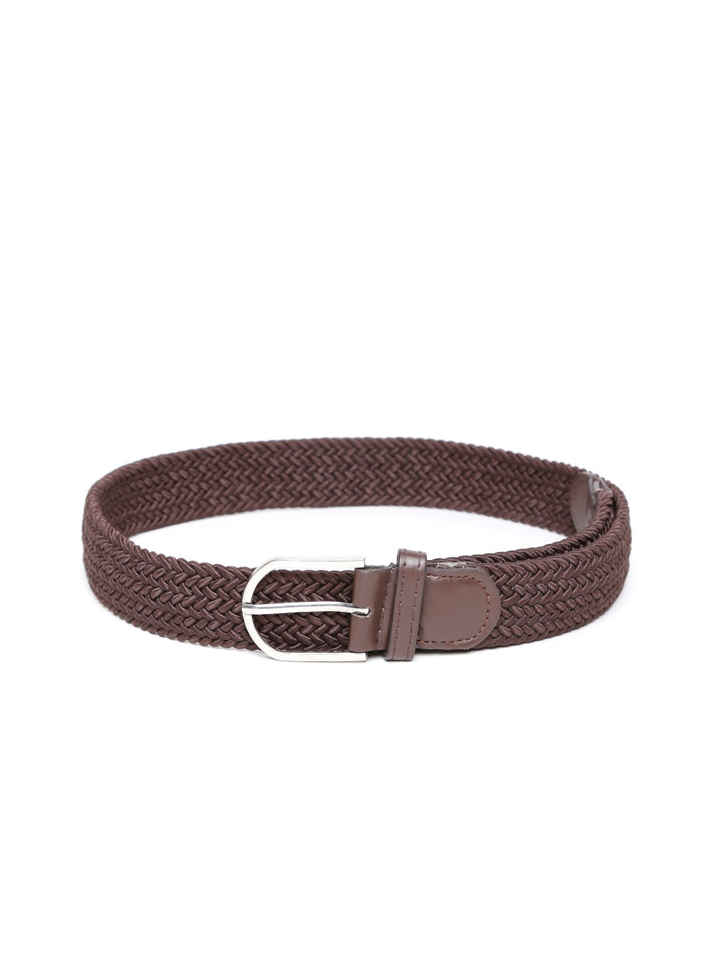 Lazy panda men brown webbed belt