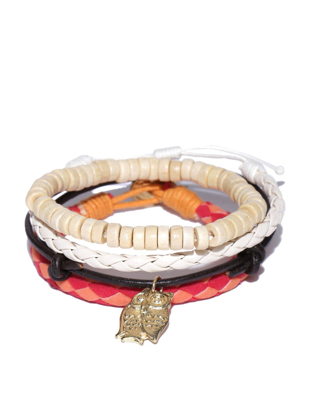 Lazy panda men set of 4 bracelets-onesize-cream