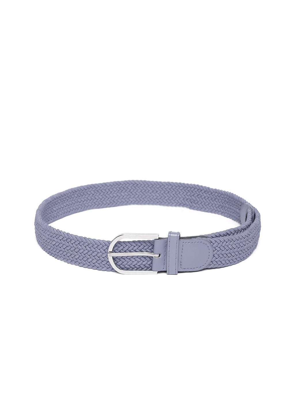 Lazy panda men grey nylon webbed belt