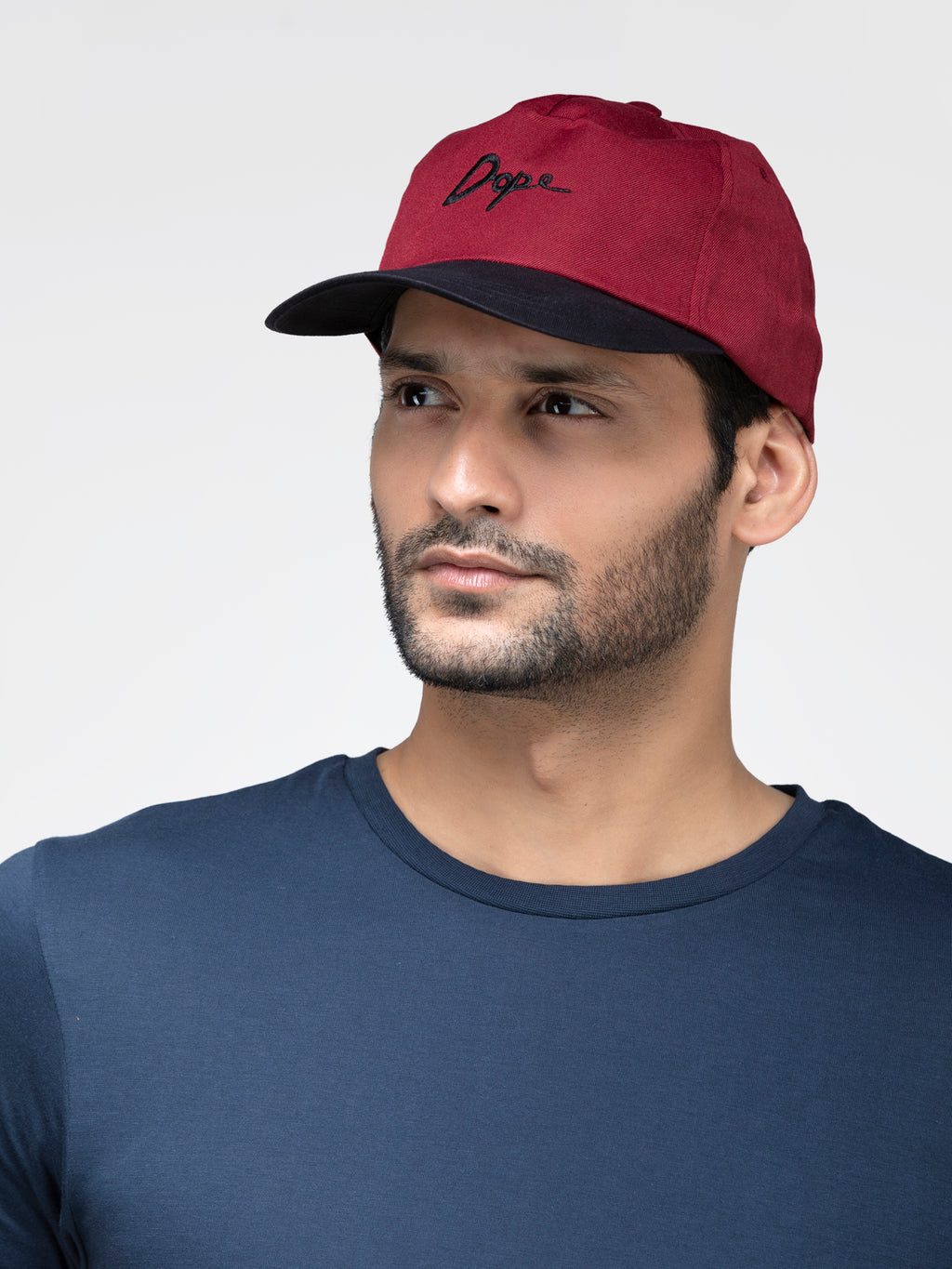 Blueberry red color snapback cap
