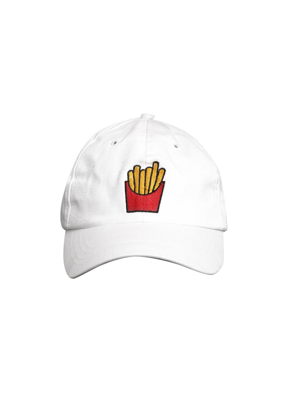 Blueberry french fries emebriodery white baseball cap
