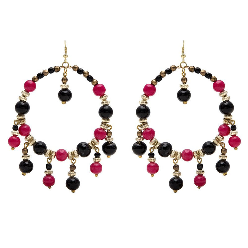 Blueberry multicolor beads drop earrings