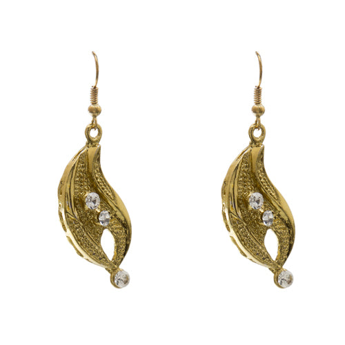 Blueberry gold plated beads detailing drop earring