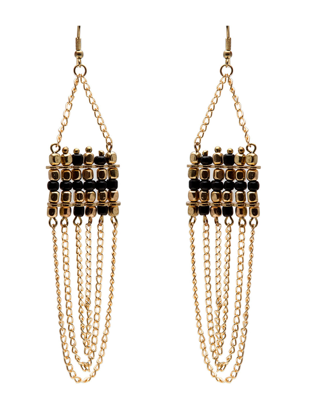 Blueberry gold plated ball chain drop earring