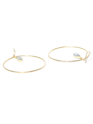 Blueberry gold plated hoop earring