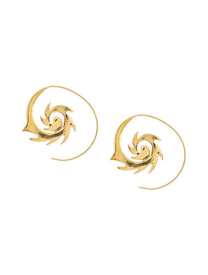 Blueberry gold plated drop earring