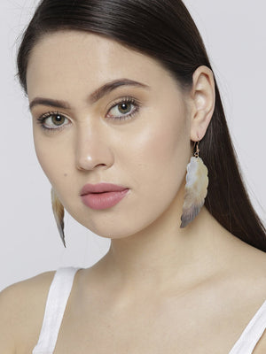 Blueberry leaf shape drop earring