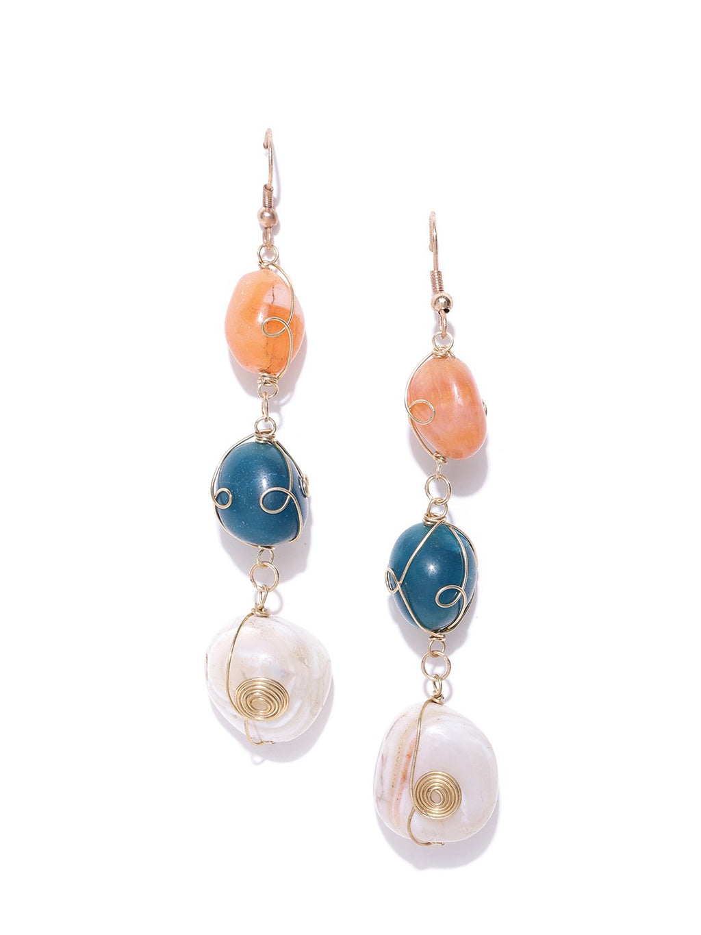Blueberry multi colour stone drop earring